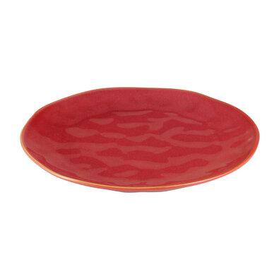 Tescoma LIVING Lapostányér 26 cm, piros