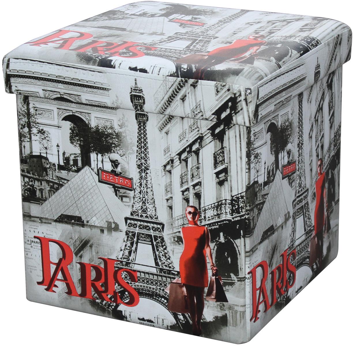Skladací sedací box s potiskom Paris,