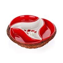 BANQUET Red Poppy 4-częściowa miska w koszyku