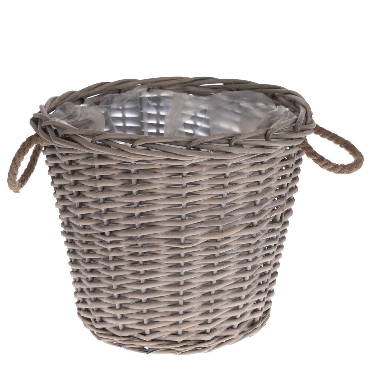 Proutěný košík s uchy Lingen, 35 x 30 x 35 cm