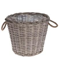 Prútený košík s ušami Lingen, 35 x 30 x 35 cm