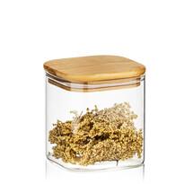 4Home Bamboo üveg élelmiszer tároló bambusz fedéllel, 550 ml