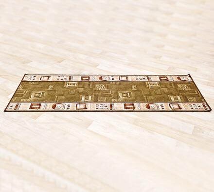 Kobercový běhoun, hnědá, 80 x 300 cm