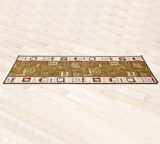 Kobercový behúň Zara, hnedá, 70 x 100 cm
