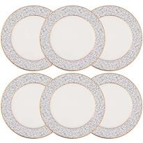 Altom 6dílná sada dezertních talířů Granit 20 cm, bílá