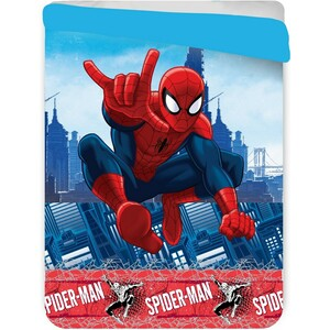 Jerry Fabrics Dětská prošívaná přikrývka Spiderman, 180 x 260 cm