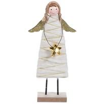 Înger de Crăciun Koopman Berenice auriu, 23 cm