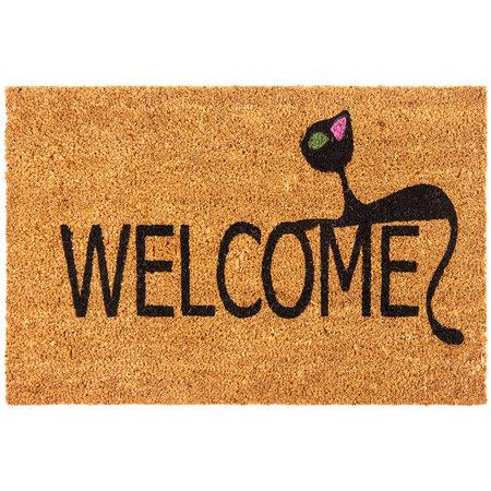 Welcome Cats kókusz lábtörlő, 40 x 60 cm