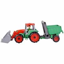 Tractor cu remorcă Lena Auto Truxx, 56 cm