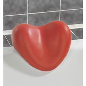 Wenko polštářek na vanu červená