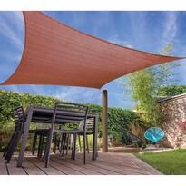 Napvédő árnyékoló ponyva, barna, 500 x 500 cm