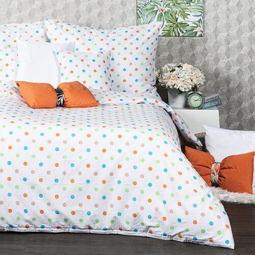 Lenjerie de pat 4Home Dots, din bumbac portocaliu, 140 x 220 cm, 70 x 90 cm