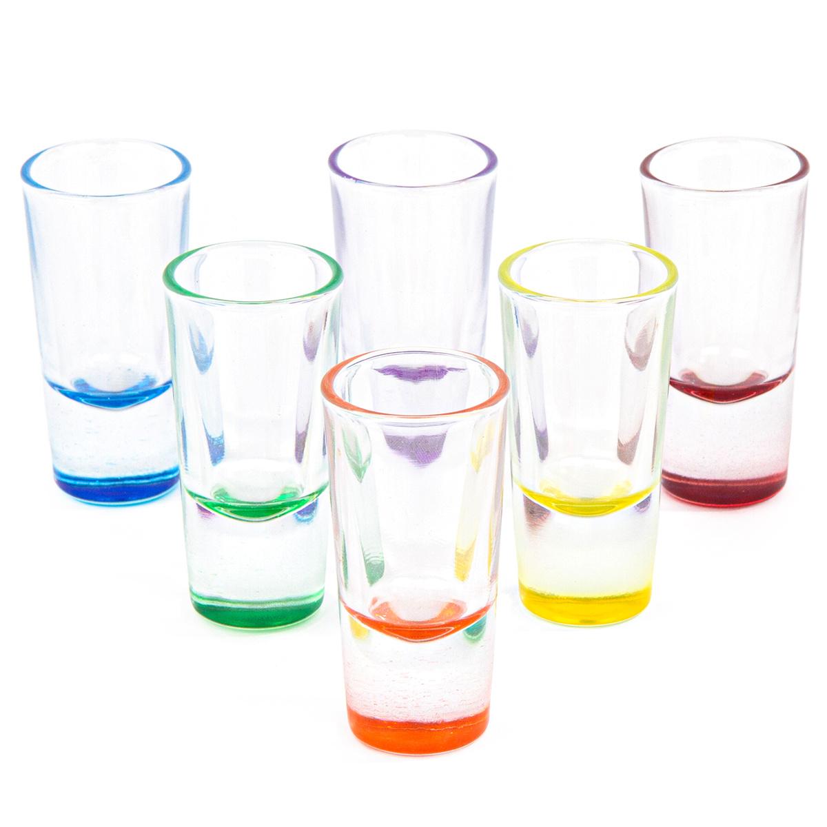 Altom 6-częściowy zestaw kieliszków na wódkę 25 ml, kolorowe dno