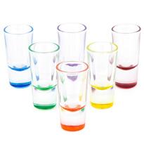 Altom 6dílná sada panáků na vodku 25 ml, barevné dno