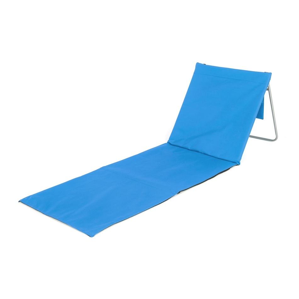HAPPY GREEN Podložka plážová AUSTIN s ocelovou konstrukcí, modrá 160x54cm