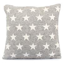 Stars párnahuzat világos szürke, 40 x 40 cm