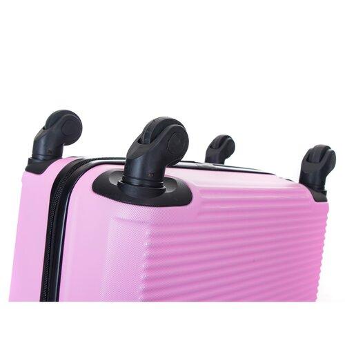 Pretty UP Walizka podróżna z tworzywa sztucznego ABS03 L, różowy
