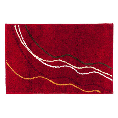 Koupelnová předložka, červená, 50 x 80 cm