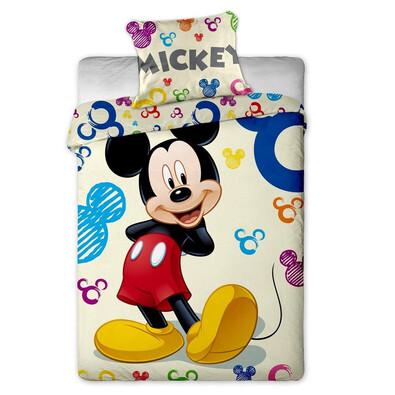 Dětské bavlněné povlečení Mickey colours, 140 x 200 cm, 70 x 90 cm