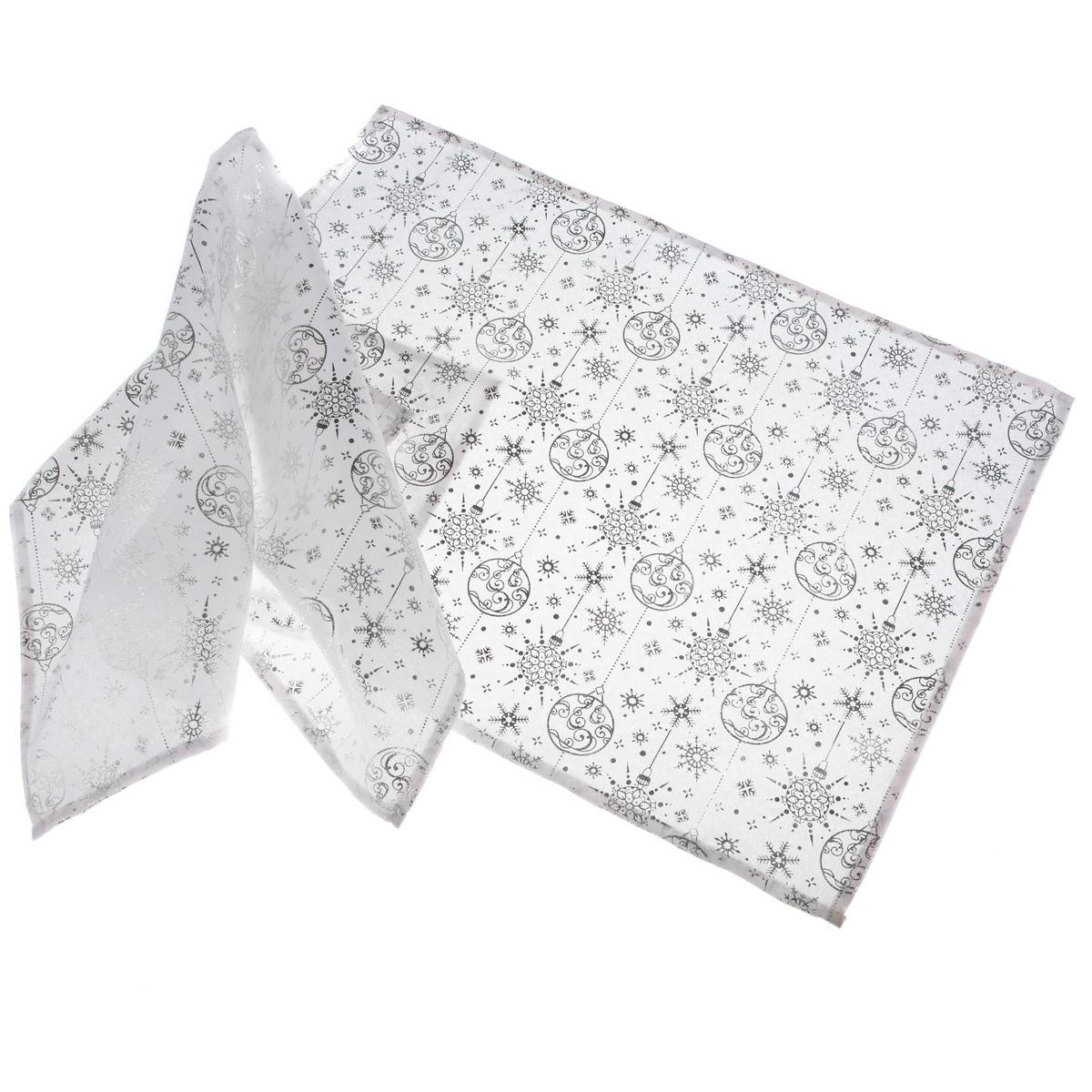 Dakls Vánoční prostírání Zima stříbrná, 32 x 45 cm, sada 2 ks