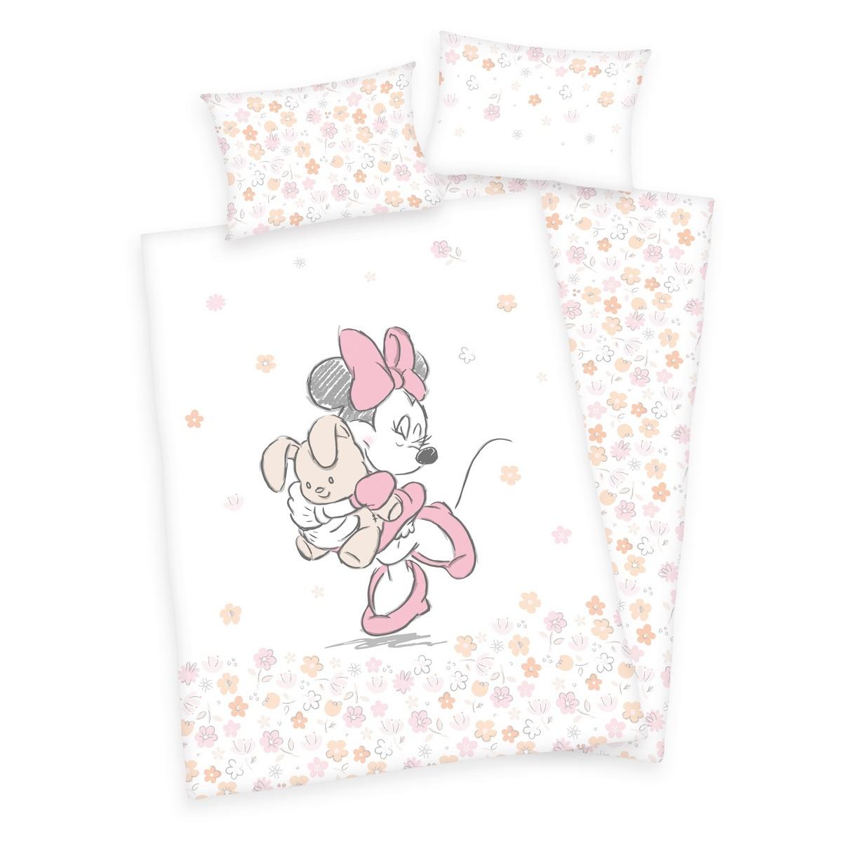 Herding Detské bavlnené obliečky do postieľky Minnie Mouse, 100 x 135 cm, 40 x 60 cm