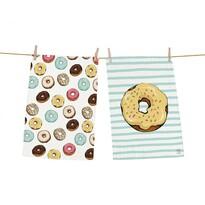 Butter Kings Kuchyňská utěrka Tasty donuts, 70 x 50 cm, sada 2 ks
