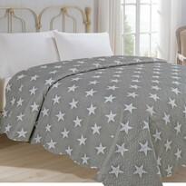 Cuvertură de pat Stars gri, 220 x 240 cm