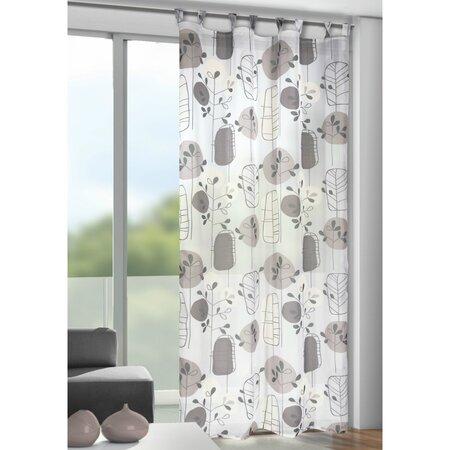 Záclona s pútkami Bastian sivá 135 x 245 cm