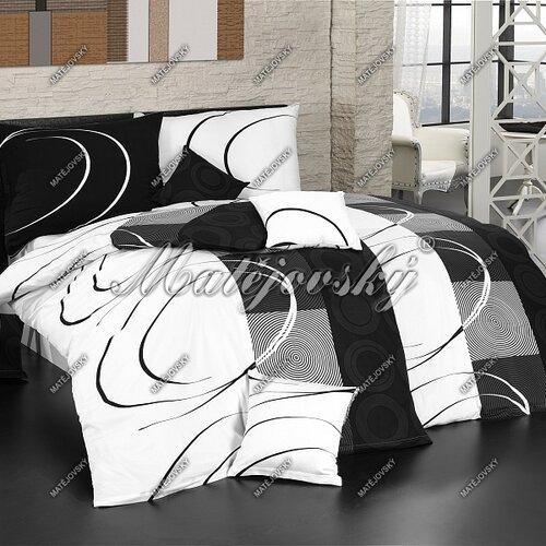 Matějovský Povlečení Royal black Bavlna deluxe 200x210 2x70x90, 200 x 210 cm, 2 ks 70 x 90 cm