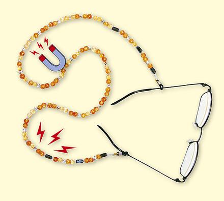 Šnůrka na brýle s magnety