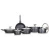 Banquet Diamon Matte Grey edénykészlet  tapadásmentes felülettel, 11 db