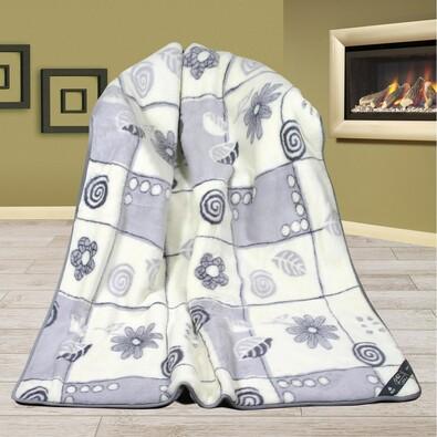 Vlněná deka Alpaka DUO patchwork, 155 x 200 cm