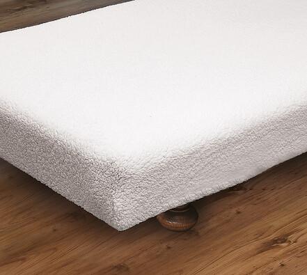 Napínací přehoz na postel,  bílá, 90 x 190 cm