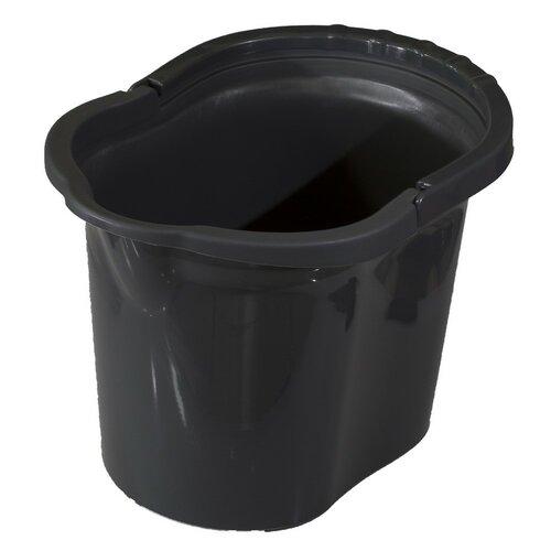 Kbelík oválny 11 litrů, šedá