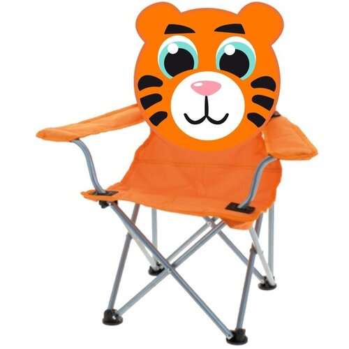 Detská skladacia stolička Tiger, oranžová