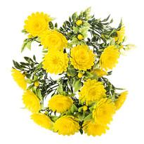 Crizanteme artificiale galbene