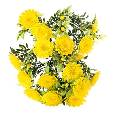 Umělá květina chryzantémy žlutá