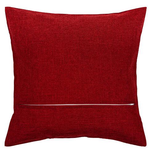Vánoční povlak na polštářek Cesmína červená, 40 x 40 cm