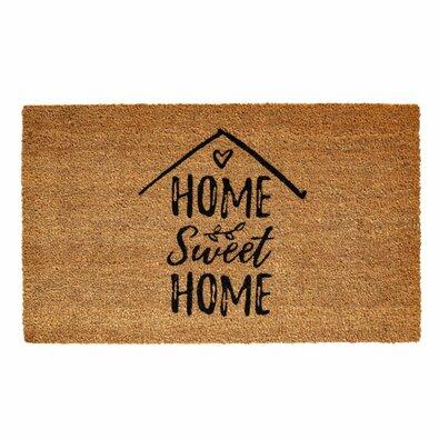 Wycieraczka kokosowa Ruco print Home Sweet Home, 45 x 75 cm