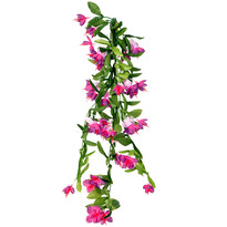 Floare artificială Fuchsia violet, 60 cm