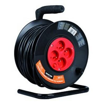 Sencor SPC 50 prodlužovací kabel na bubnu 4 zásuvky délka 25 m černý