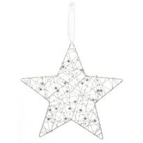Vánoční závěsná hvězda Alambre, bílá