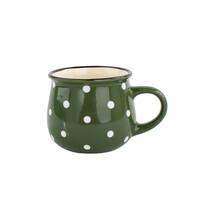 Keramický hrnček Dots 230 ml, zelená