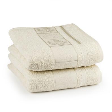 4Home ručník Bamboo krémová, 50 x 100 cm, 2 ks