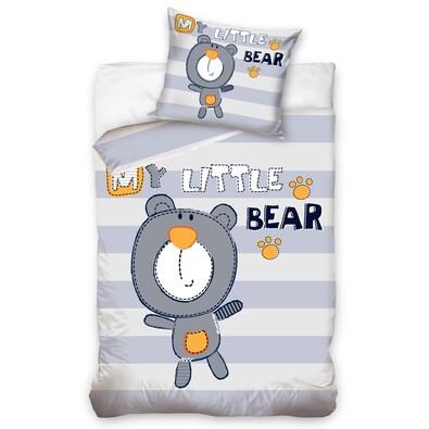 Carbotex Dziecięca Pościel Bawełniana My Little Bear 140x200 70x80
