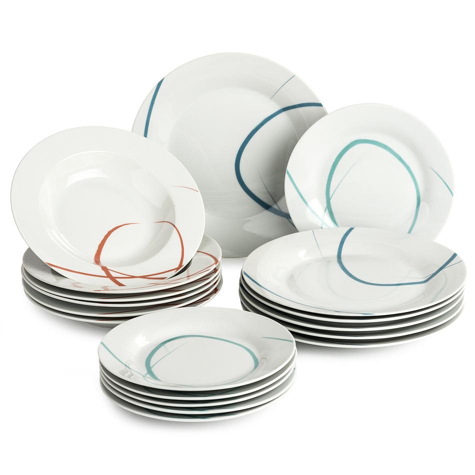 Banquet Pastelle sada talířů, 18 ks