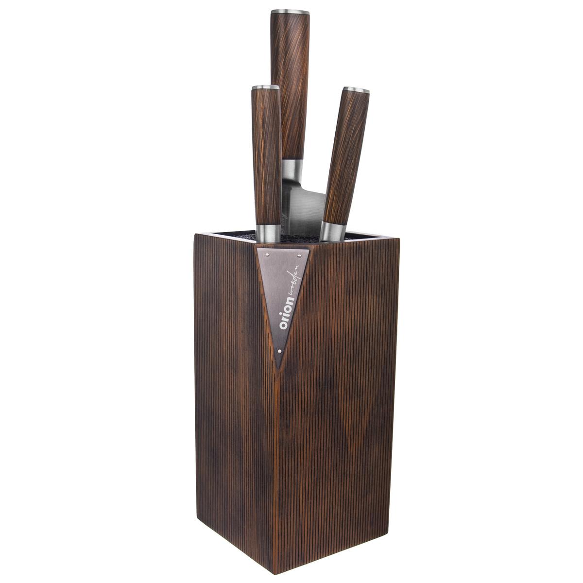 Orion Dřevěný stojan na nože Wooden