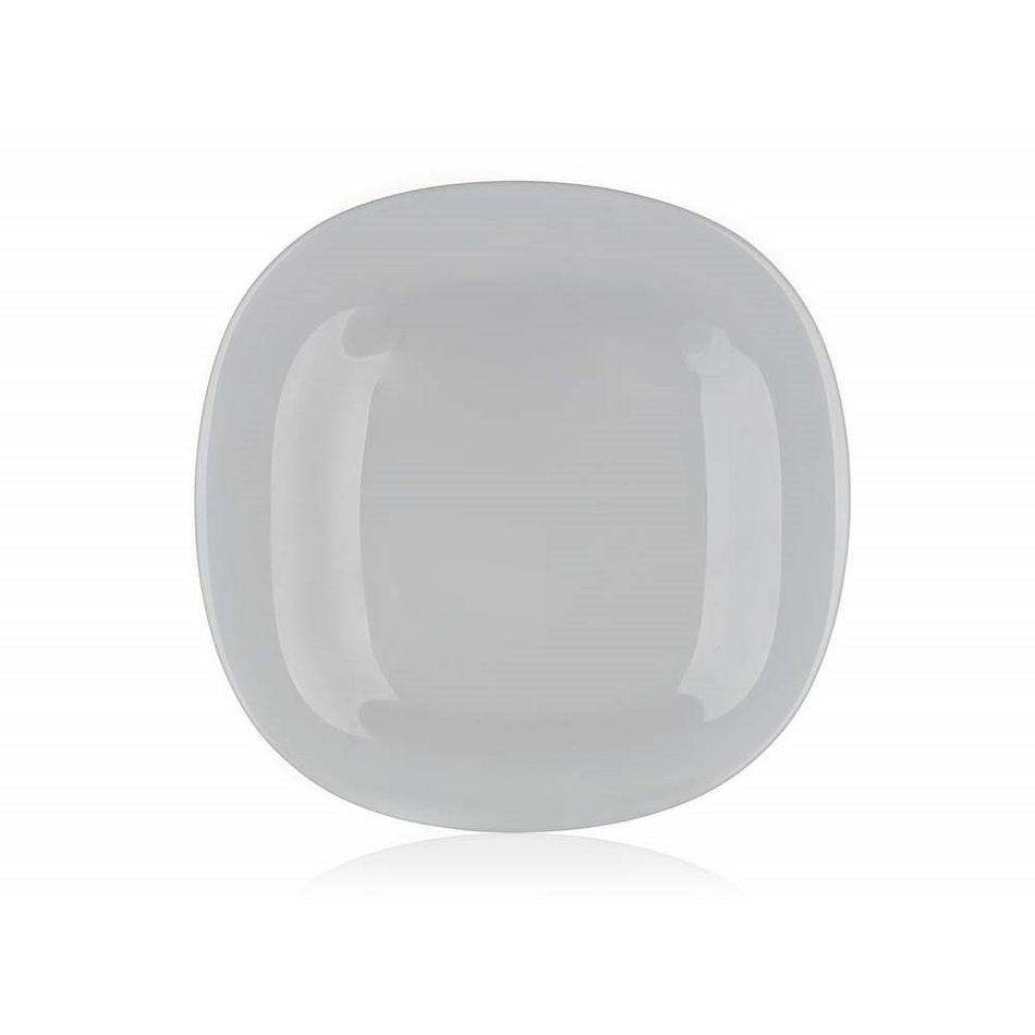 Luminarc Hranatý dezertní talíř CARINE 19 cm, 6 ks, šedá