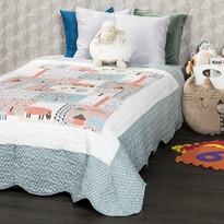 4Home Narzuta na łóżko dla dzieci Animals, 140 x 200 cm