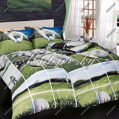 Matějovský bavlněné povlečení Golf story, 140 x 200 cm, 70 x 90 cm